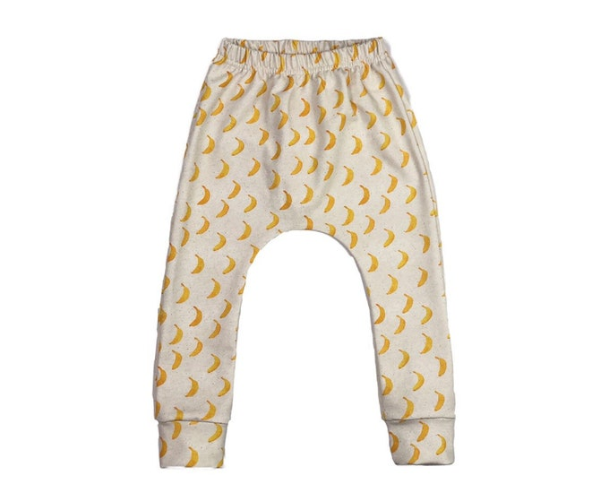Harem pants organic bananas, baby harem pants, harem pants child