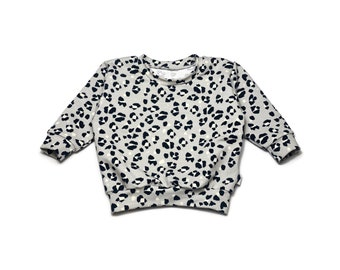 Loose Leopard Grey Sweat