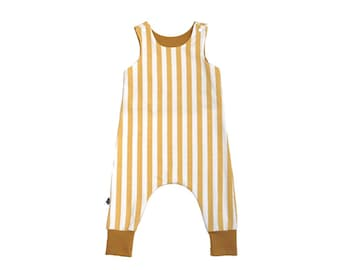 Combination vertical stripes mustard