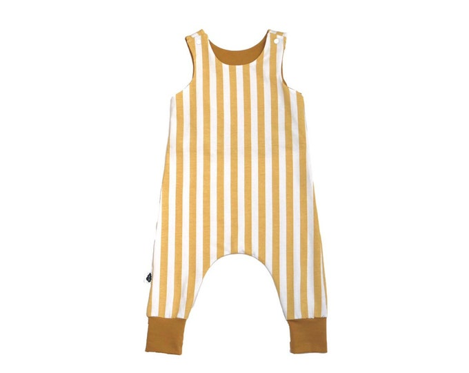 Combination Vertical Stripes Mustard 9/12 months (large size)