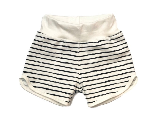 Short draw Marin-striped sailor-organic cotton shorts-kids shorts-organic cotton baby shorts