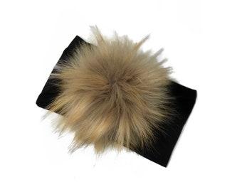 HeadBand Black XL Pompon