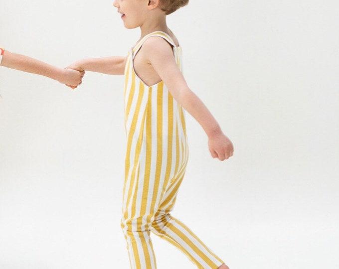 Vertical Mustard overalls