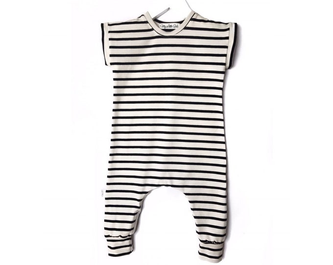 Striped sailor jumpsuit