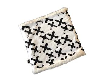 Snood Cross Black Polar Ecru
