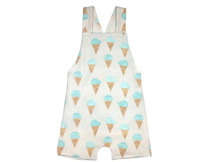 Ice-cream short overalls