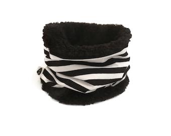 Snood Black Polar Stripes