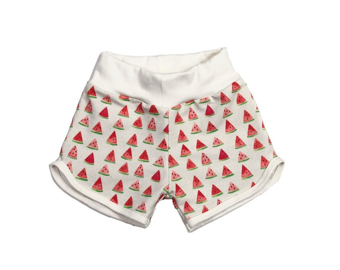 Watermelon shorts-girl shorts-organic cotton baby shorts