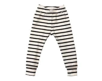 Navy striped leggings