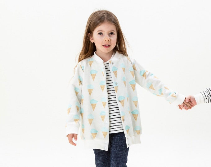 Ice-cream lightweight Teddy jacket