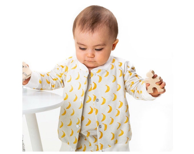 Lightweight banana Teddy jacket