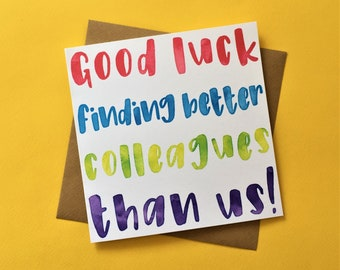 Goodbye card etsy leaving card for colleague good luck finding better colleagues than us funny greeting card st1865 m4hsunfo