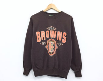 c91f8b24d Vintage Cleveland Browns Sweatshirt Big Logo Spellout American Football NFL  Team Collection Home Team Advantage Made in USA Jumper