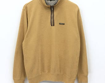 add4b16eca73 Vintage Sacsny Y saccs Yohji Yamamoto Y s Sweatshirt Japanese Designer  Luxury Golf Yellow Half Zipper Large Size Excellent Condition