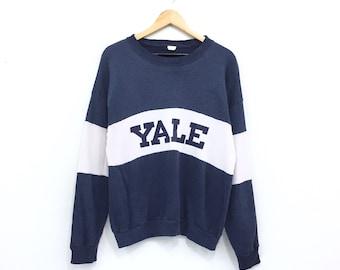 c2f5c34bb02 Vintage Yale Sweatshirt Big Spellout Yale University Pullover Jumper  Crewneck Yale Bulldogs New Heaven USA