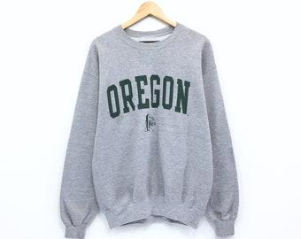 979dbb5bcfbf Vintage Oregon Sweatshirt Big Print Spellout Oregon Donald Duck Pullover  Jumper Crewneck