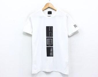 7266f51859 Yohji Yamamoto AAR T-shirt Single Stitch Chessboard Print Chess Set  Japanese Designer Luxury Made in Japan White Shirt