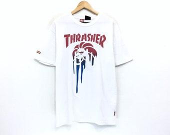 641c3448b04e Thrasher x Nesta T-shirt Skate and Destroy Babylon Big Logo Print Spellout Skateboards  T-shirt Thrasher Magazine
