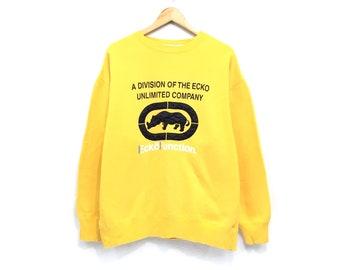 e00ec040647c5 Ecko Function Sweatshirt Embroidery Big Logo Swag Hip Hop Sport Sweater  Pullover Jumper