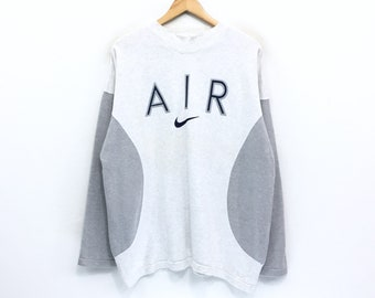 7e0604c98da266 Vintage 90s Nike Sweatshirt Nike Big Logo Spellout Embroidered Pullover  Jumper Sweater Sportwear