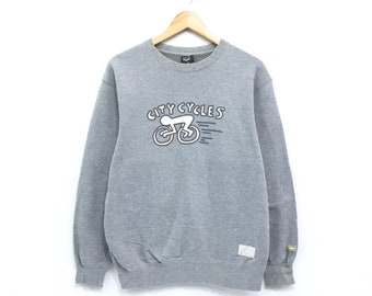 Keith Haring Sweatshirt Keith Haring City Cycles Print Pullover Jumper  Small logo Embroidery American Pop Art Design 58535f1a8
