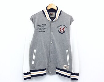 645dde50a61e Converse Varsity Jacket Big Logo Converse All Star Embroidery Spellout  Skate hip hop Swag Pullover Jumper