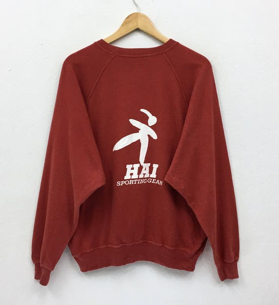 Hai by Very Embroidery Issey Nice Vintage Design Miyake Sweatshirt Gear Fashion Studios Design Designer Sporting Rare Miyake Japenese Iq00p