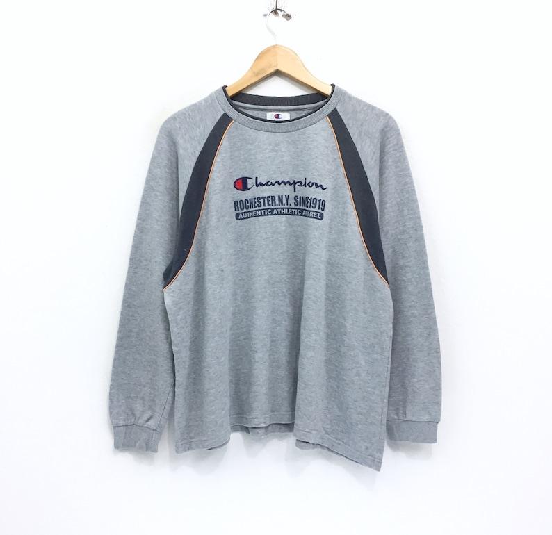 bdb9d6d955a5 Rare Vintage Champion Sweatshirt Big Logo Embroidered