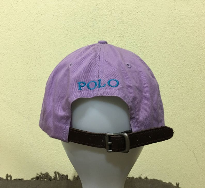 fd3cff694272d Rare Vintage Polo by Ralph Lauren Cap Polo Hat Cap Leather