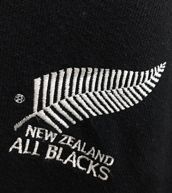Vintage Button Spellout Canterbury Zealand Rugby Rare Polos Black Long Sleeve XL New Embroidery Og Steinlager All FnqOxgHq5