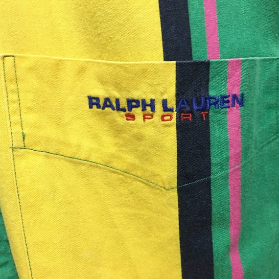 Bear Multicolours Pocket Polo Prl Button Embroidered Shirt Ralph Long Ups Lauren Shirt Stripes Single Sleeve Embroidery Sport Vintage Large XqAtw8t