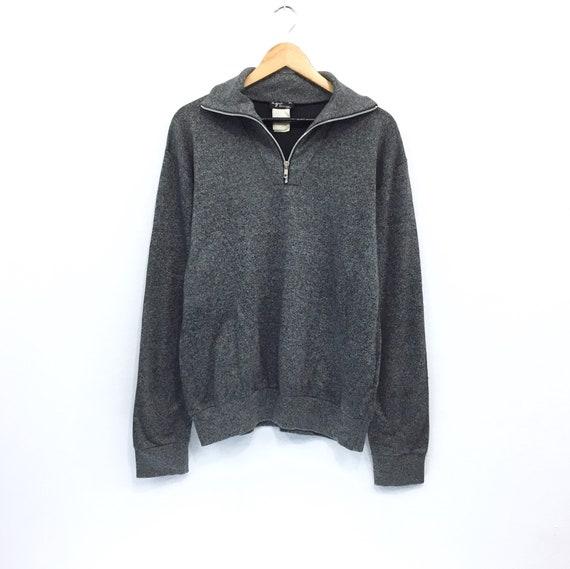 Vintage 90s AGNES B half zip sweatshirt jumper hoodie fashion style streetwear red colour size M