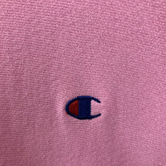 Rare!!! Vintage Pink Champion Reverse Weave Sweat… - image 4