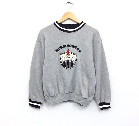 Rare!!Vintage Grand Slam Munsing Wear Big logo Full Embroidery Pullover Jumper Sweater Hip Hop Swag Skateboards outdoor rap