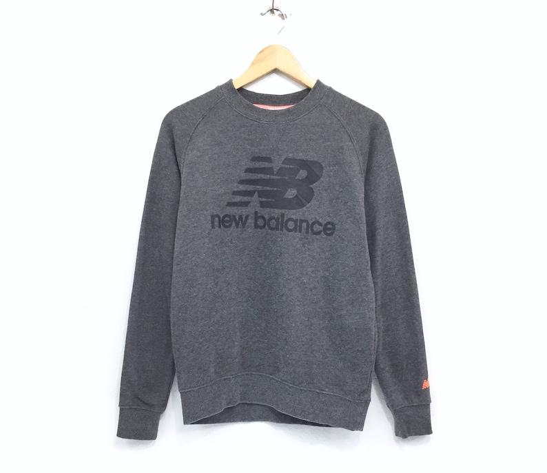 f49b86be352d2 Rare!!! New Balance Sweatshirt Big Logo Spellout Small Logo Embroidery  Sportwear pullover Jumper Sweater Hip Hop Swag