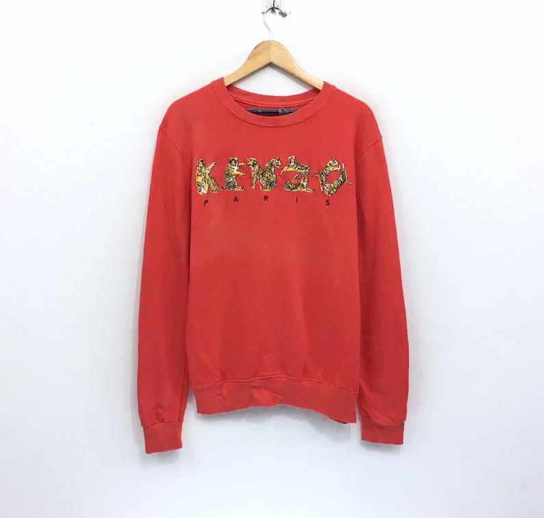 63e6c26f2 Rare Vintage Kenzo Sweatshirt Kenzo Paris Spellout Tiger   Etsy
