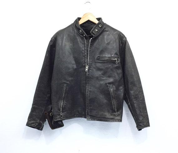 Rare!! Vintage Schott Leather Jacket Schott NYC Mo