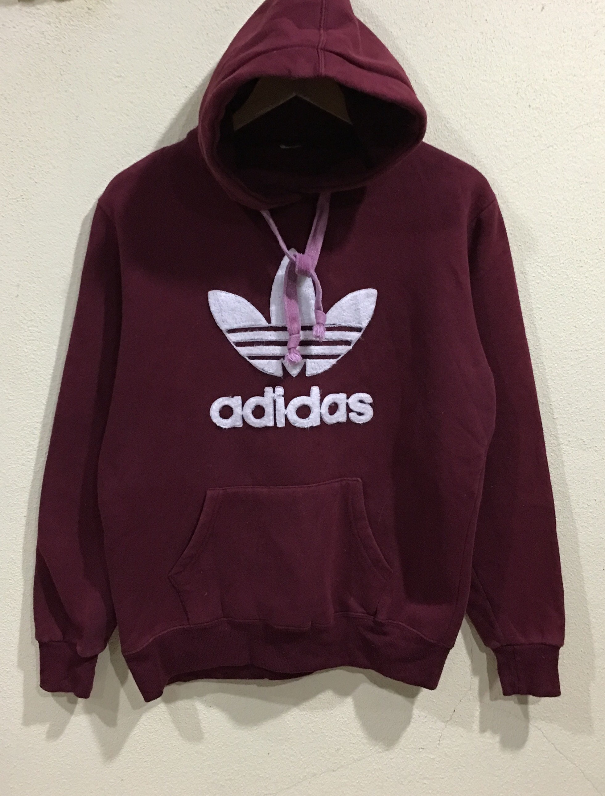 Hoodie Hop Adidas Spellout Hip Pullover Sweater Club Sportwear RareVintage Swag Big Logo Jumper bfy76g