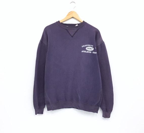DKNY Sweatshirt Sweater Jacket Rare Vintage Donna Karan New York Made in USA Sweater Sweatshirt Spell Out Hip Hop Fasion Jacket sz M