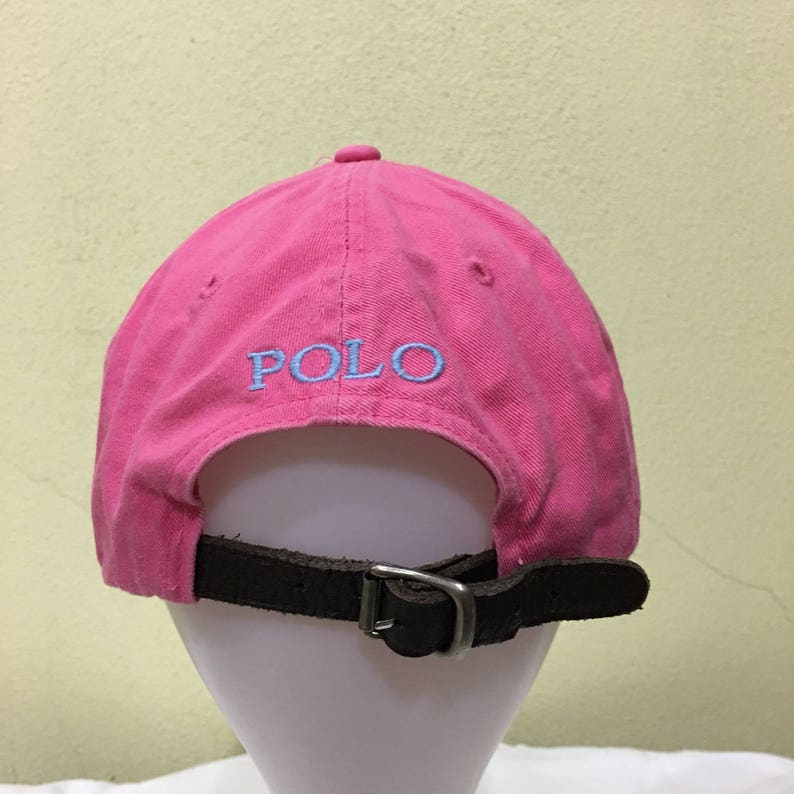 Rare Vintage Polo by Ralph Lauren Cap Polo Hat Cap Leather  b35f136dd28
