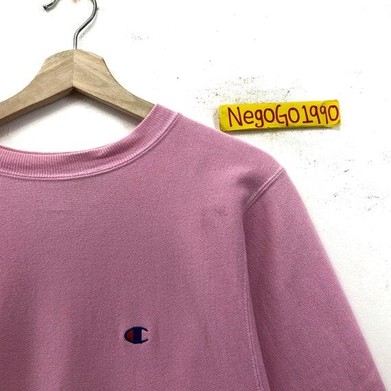 Rare!!! Vintage Pink Champion Reverse Weave Sweat… - image 3