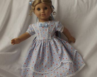 Pretty 1850's Party Dress For American Girl Dolls or  Similar Sized 18 inch Dolls