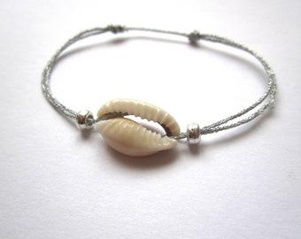 Cord COWRIE shell bracelet