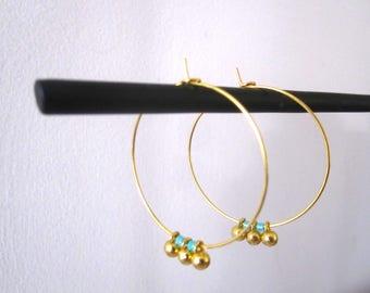 fine hoop earrings gold pearls
