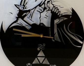 Horloge Fan art Link & Zelda (Positif)