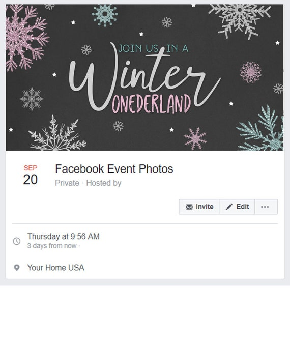 Winter Onederland Birthday Party Facebook Onederland Facebook Etsy