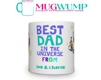 Personalised Father's Day Best Dad In The Universe Mug. Mug For Dad. Best Dad Mug.