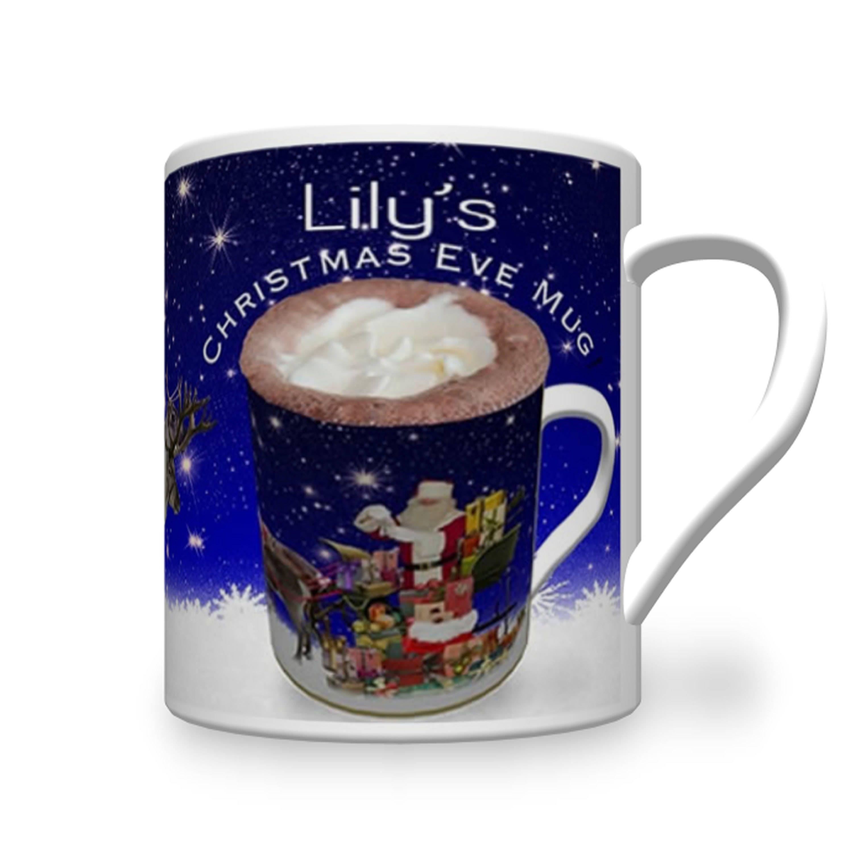 Child\'s Christmas Eve Mug. Personalised Kids Christmas | Etsy