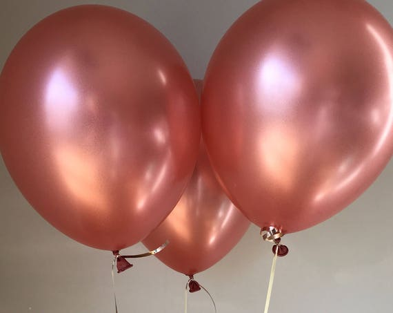 Birthday Balloon 2606 Rose Gold 11 Latex Balloons Pack Of 5 Or 10 Baby