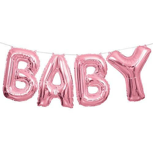 baby shower balloon baby pink balloon air fill balloon baby